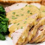 file de porc cu sos alb