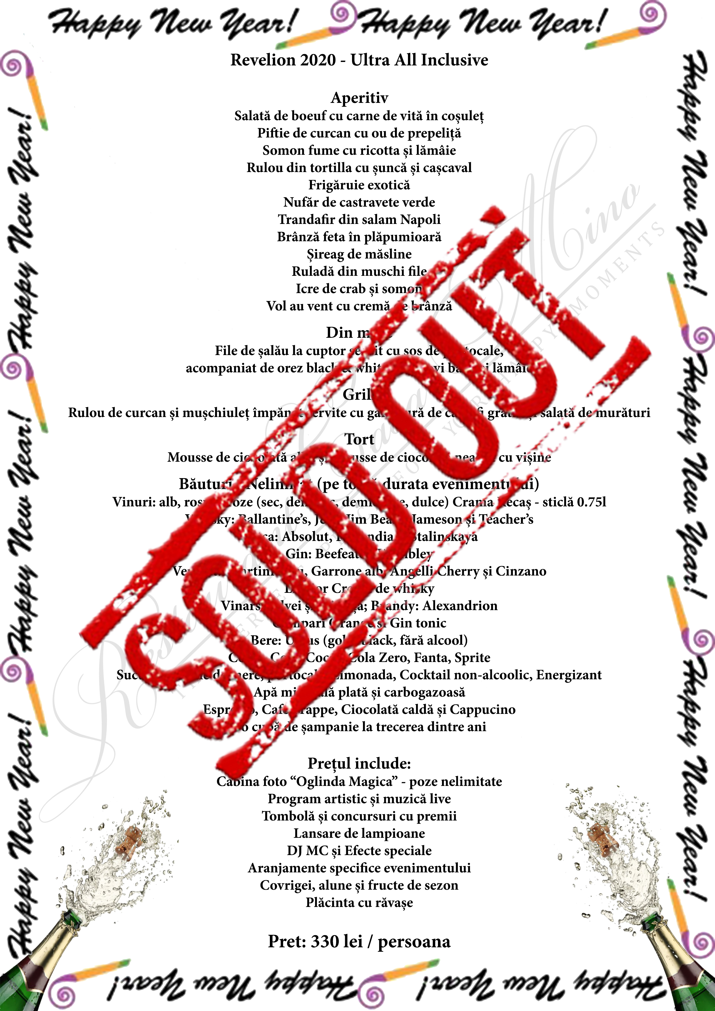 revelion 2020 sold out