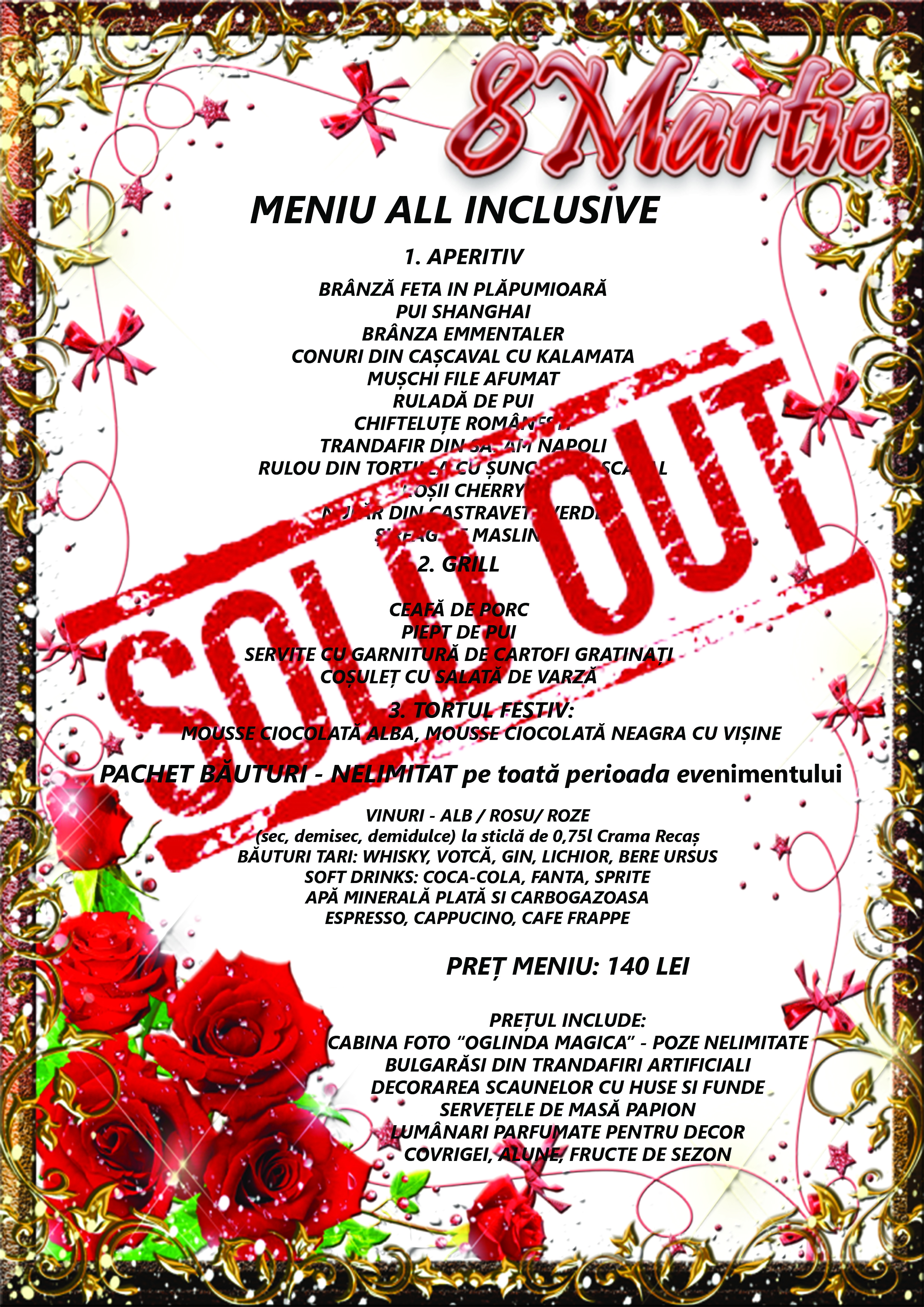 MENIU 8 martie SOLD OUT